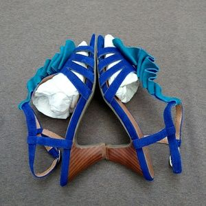 Anthro Jeffrey Campbell Strappy Heels Sandals